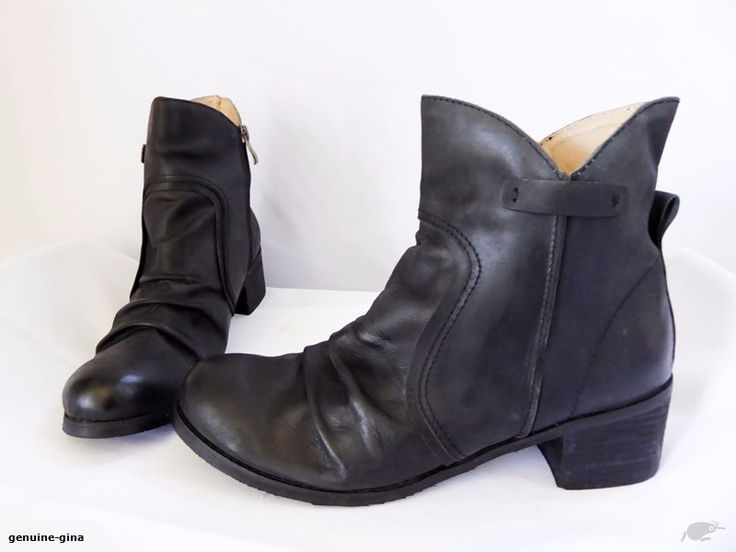 PULP 'Flora' leather ankle boots size 42