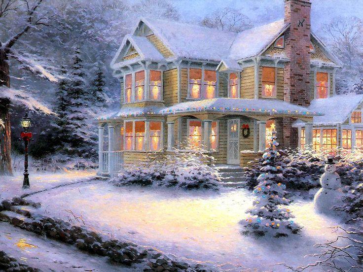 Victorian Christmas III | Artist: Thomas Kinkade