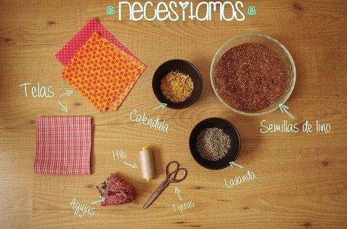 Cómo hacer una almohada terapéutica con semillas