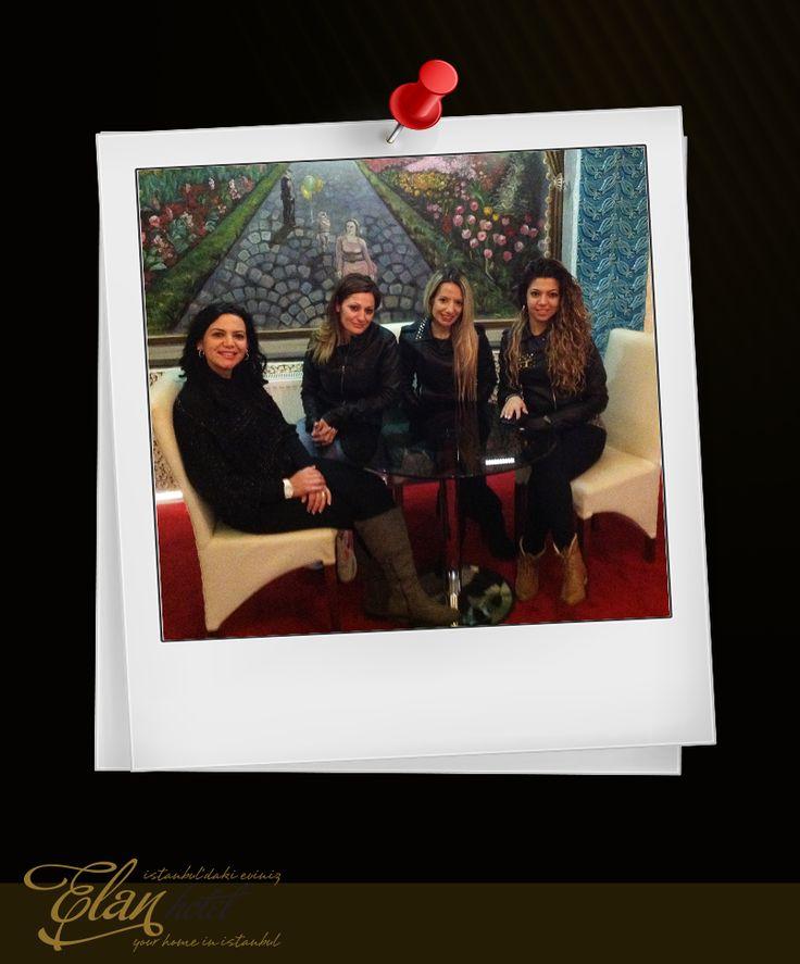 Otelimiz'e neşe katan misafirlerimiz Sezgin, Öykü, Filiz ve Melek hanımlara teşekkür ediyoruz. :)))) #elanhotelistanbul #misafirlerimiz