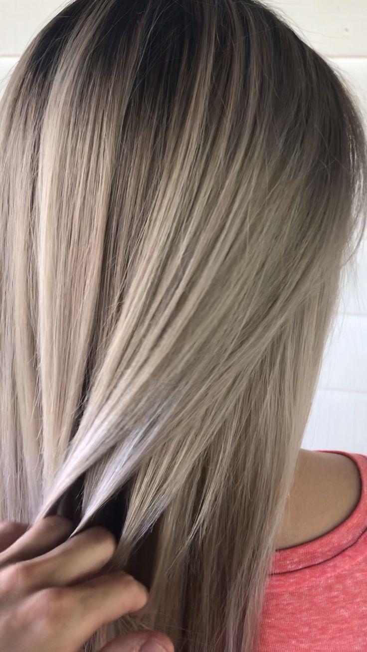 Platinum blonde balayage beige blonde balayage Asian hair blonde Asian hair Michigan Hair jessicaphillipshair jessica phillips Hair detroit hair color best haircolor light hair blonde hair teasylights babylights hairvideos hairvideo