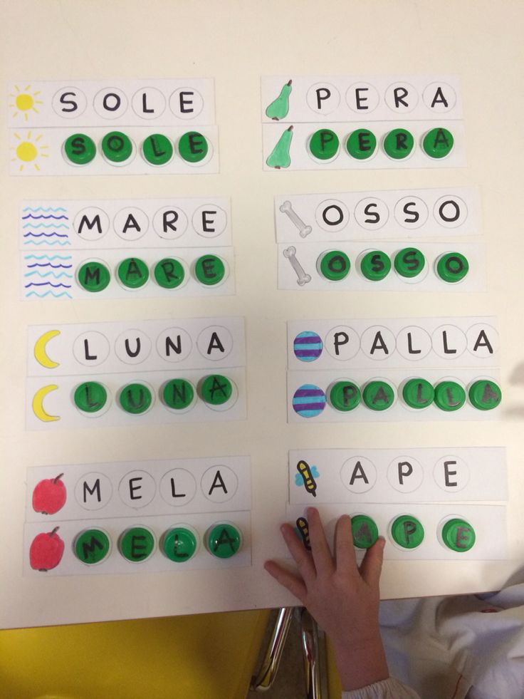 Scuola dell'infanzia. Impariamo a scrivere con i tappi