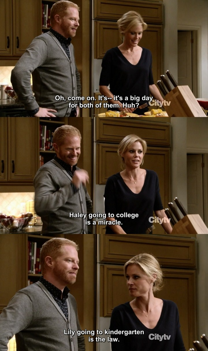 Modern Family. I've got a feeling this is how it will be with my Lilly. Lol.