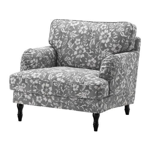 STOCKSUND Poltrona - Hovsten grigio/bianco, nero - IKEA