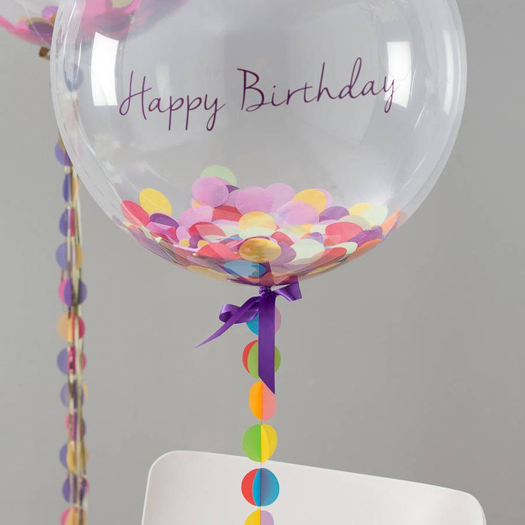 Birthday Confetti Filled Balloon