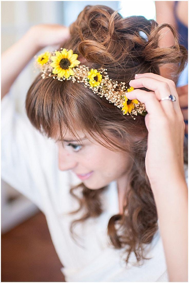 sunflower crown bridal hair / smile peace love creative