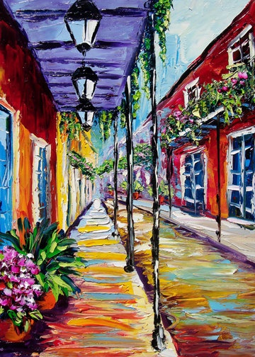 New Orleans  Fine Art Print B. Sasik ACEO