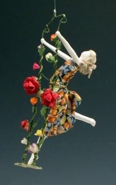 Carolina Creations Fine Art and Contemporary Craft: Sarena Mann Flying Papier Mache Ladies
