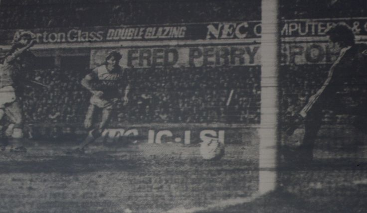 11 January 1966 Graeme Sharp adds a fourth in the 66th minute to give the |Blues a 4-3 victory over QPR