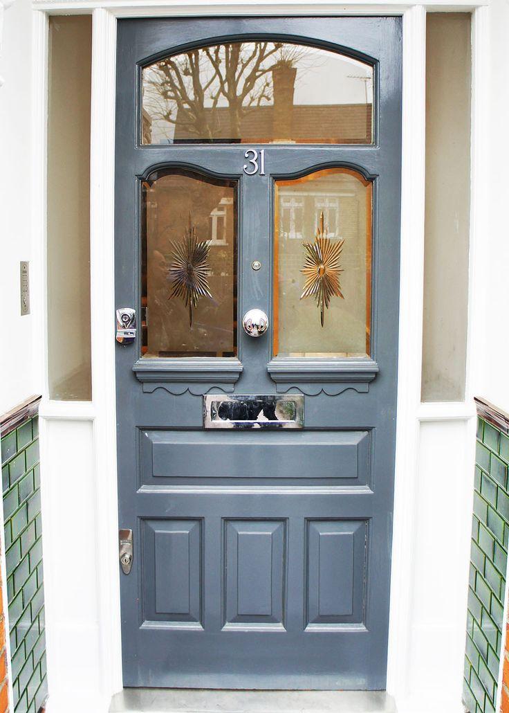 Smart grey Victorian front door