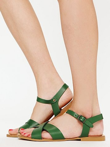 Avalon Sandal at free people $60. also yellow, red, brown, nude. like my childhood faves! but prob no arch support ;(