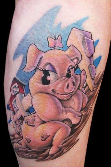 Sexy pig tattoo