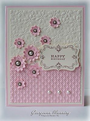 SU Four Frames, Boho Blossoms and Decorative Label punches, Petals a plenty and Lattice E F