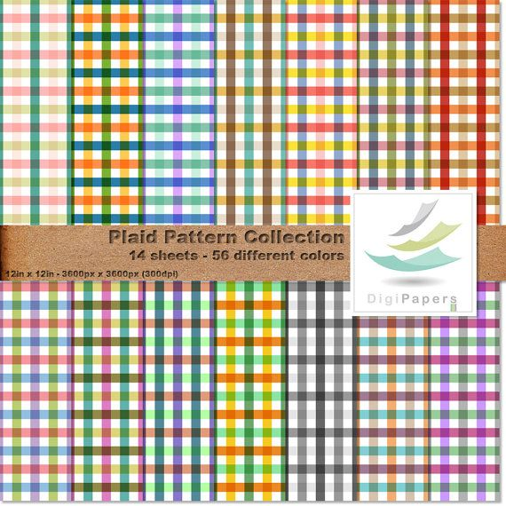 Plaid Pattern Collection by DigiPapers