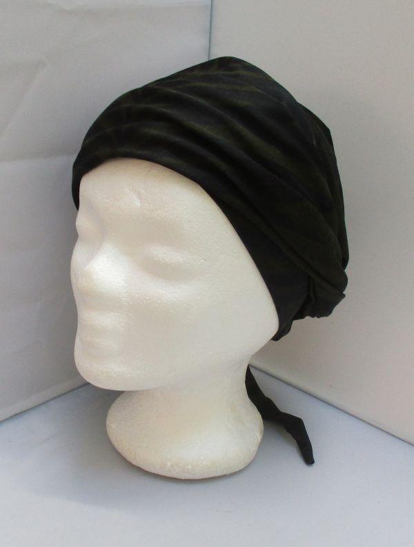 Turban chimio, préformé Sésame à nouer, enrouler, chapeau, bandeau chimio  noir à   Chapeaux-Turbans-Foulards-Bonnets chimio en 2018   Pinterest f046a8ae0b7