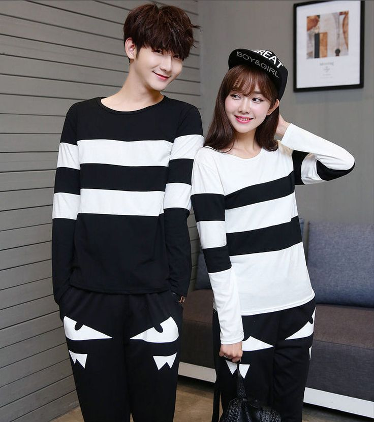 Stripe #Couple #T-Shirt
