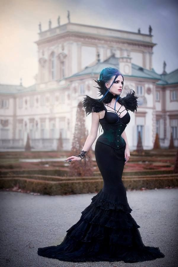 Model, make-up, styl., edit: Daedra Neck corset &... - Gothic and Amazing