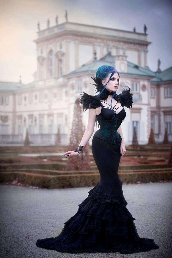 Model, make-up, styl., edit: Daedra Neck corset &... - Gothic and Amazing