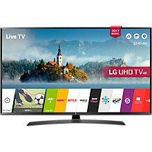 "Buy LG 43UJ635V LED HDR 4K Ultra HD Smart TV, 43"" with Freeview Play & Crescent Stand, Black Online at johnlewis.com"