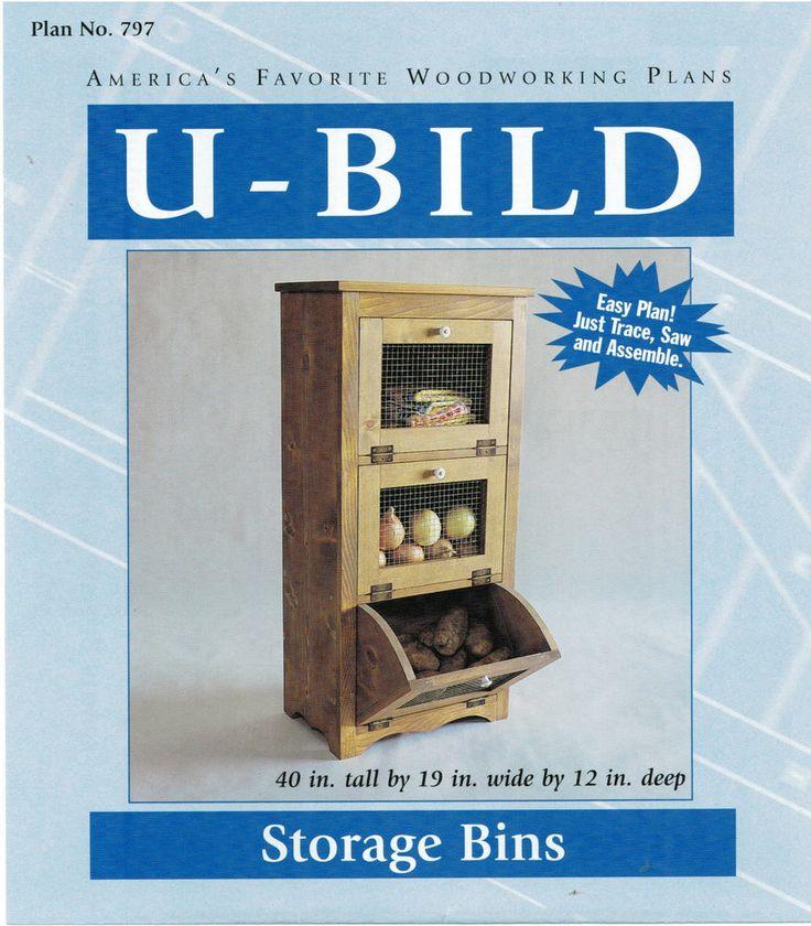 Vegetable Storage Bins Woodworking Plans by UBild