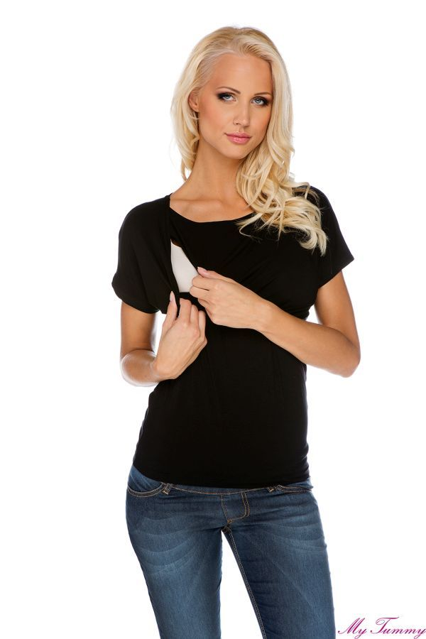 Kopertowa bluzka do karmienia i na ciążę