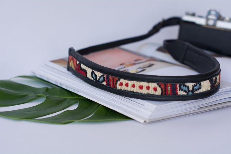 The Artemis Noir Leather Camera Strap