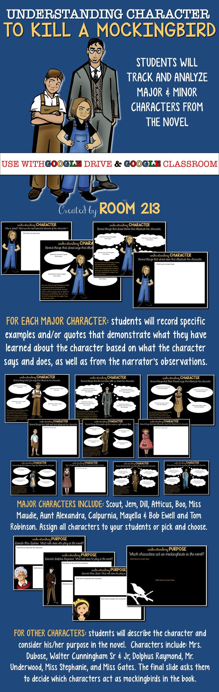best ideas about tkam characters to kill a to kill a mockingbird digital character analysis