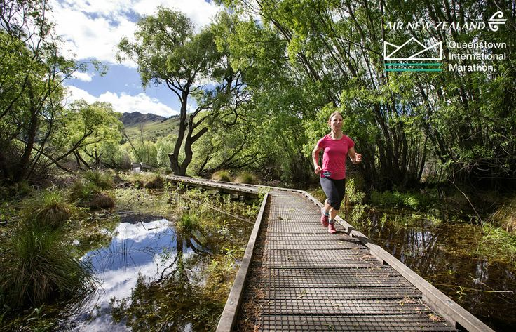 Lake Hayes Trail, part of the Air New Zealand Queenstown International Marathon www.airnzqueenstownmarathon.co.nz #AirNZ #QueenstownMarathon #Queenstown #NZ #NewZealand #AirNewZealand