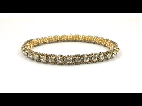 Beading4perfectionists : Roll on, Roll off..cupchain bangle bracelet beading tutorial - YouTube