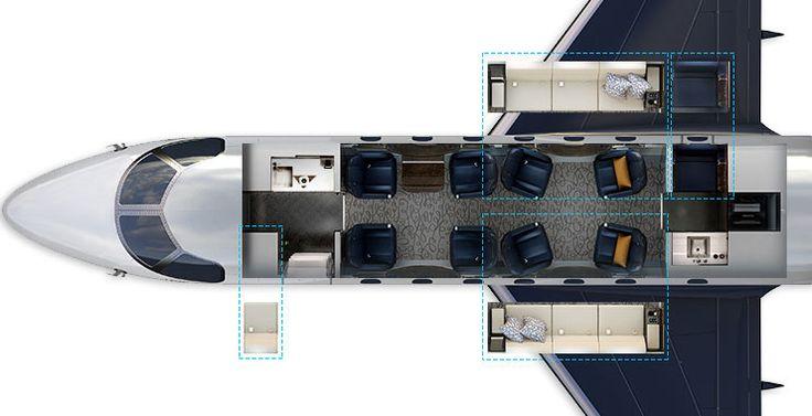 Legacy 500 Interior Cabin Configuration