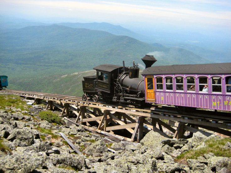 Mount Washington Cog Railway is one of the great things to do when in New Hampshire. Get breathtaking views at the summit.