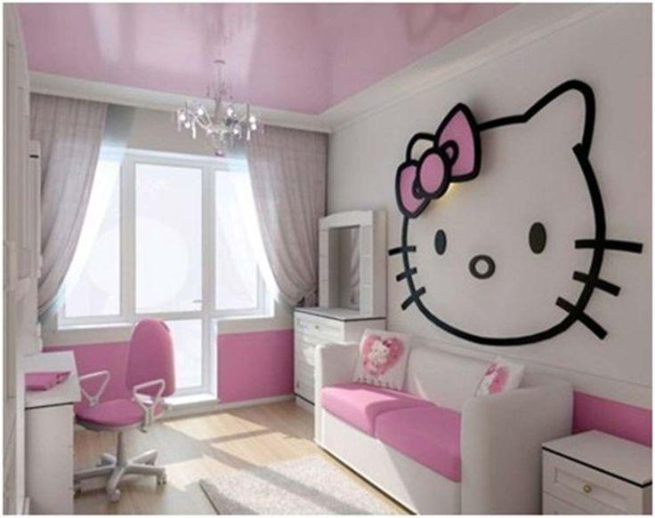 Office Hello Kitty Room Design For Girl ~ http://www.lookmyhomes.com/hello-kitty-room-designs-ideas-for-girl/
