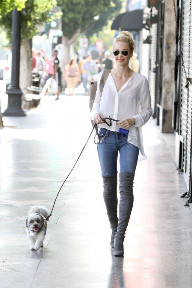Laura Vandervoort skinny jeans and over the knee boots | Thigh and ...