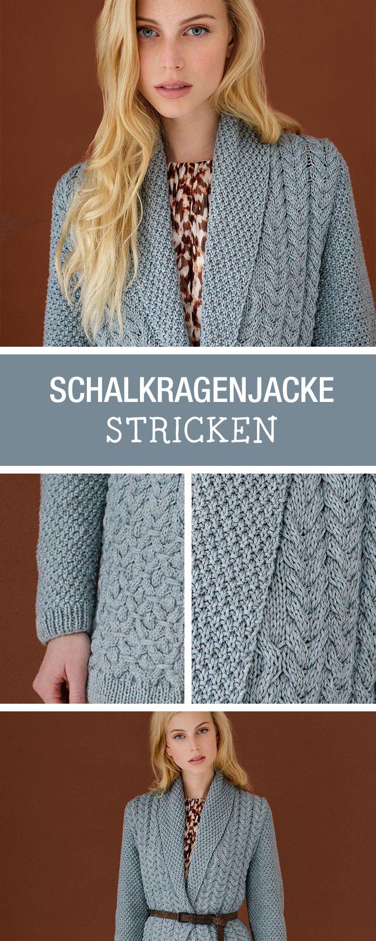 DIY-Anleitung: stricke Dir eine gemütliche Schalkragenjacke für kalte Tage / DIY tutorial: knitting a cozy jacket for colder days via DaWanda.com