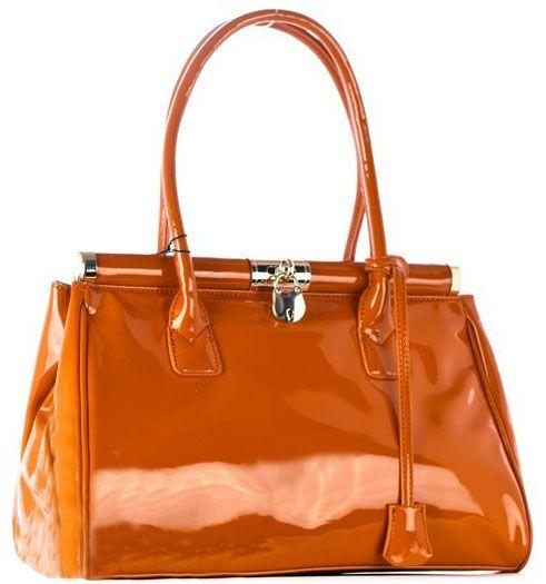 Elegantná a praktická kabelka značky David Jones vyrobená z lesklej ekokože.
