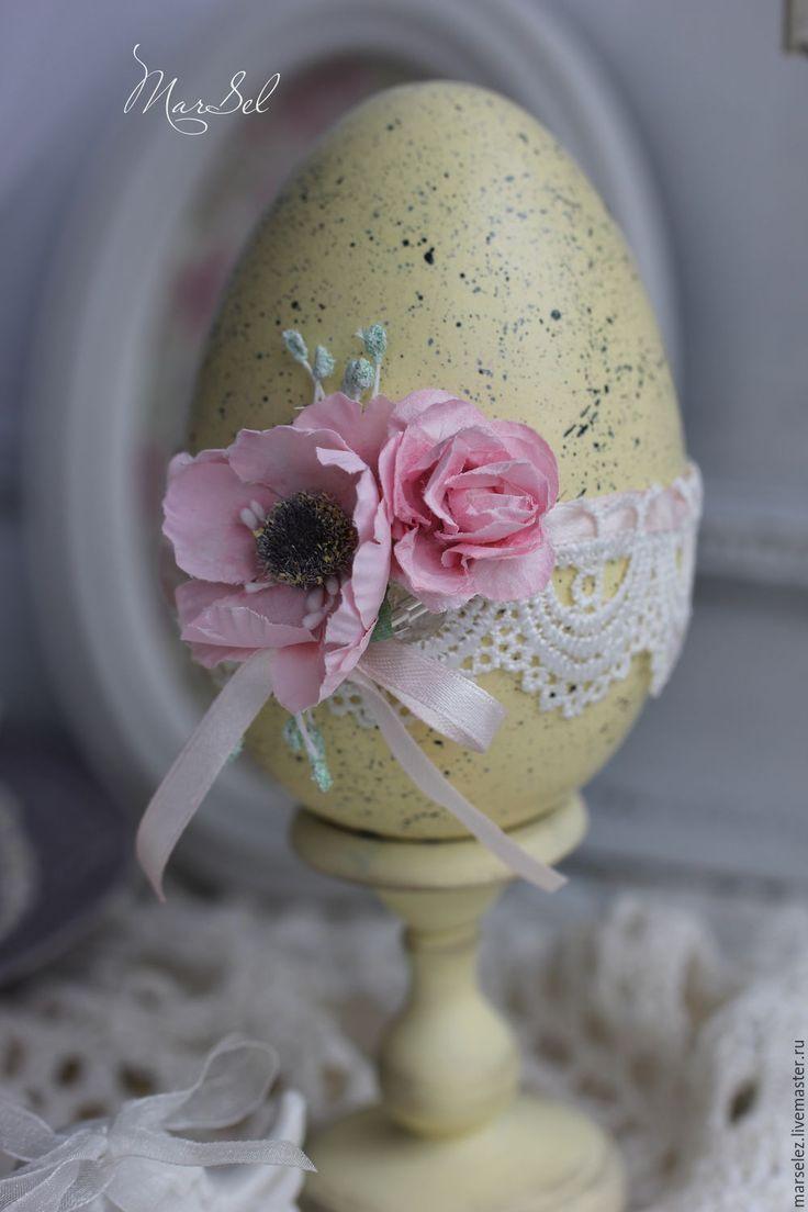 """Купить Пасхальное яйцо """"Цвет весеннего солнца"""" - желтый, пасхальный сувенир, пасхальный подарок"""