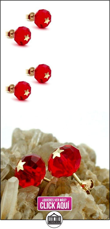 Conector, vidrio-rojo estrella 14Kt oro  ✿ Joyas para niñas - Regalos ✿ ▬► Ver oferta: https://comprar.io/goto/B00C7C3PZQ