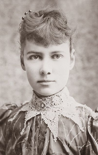 """Nellie Bly entered Blackwell's island Asylum in 1887 under the guise of insanity under assignment from Joseph Pulitzer. She wrote, """"From the moment I entered the insane ward on the Island, I made no attempt to keep up the assumed role of insanity. That was my nickname when I was younger. Kick ass woman right there"""
