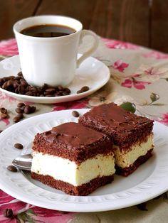 Ciasto kawowe z kremem grysikowym