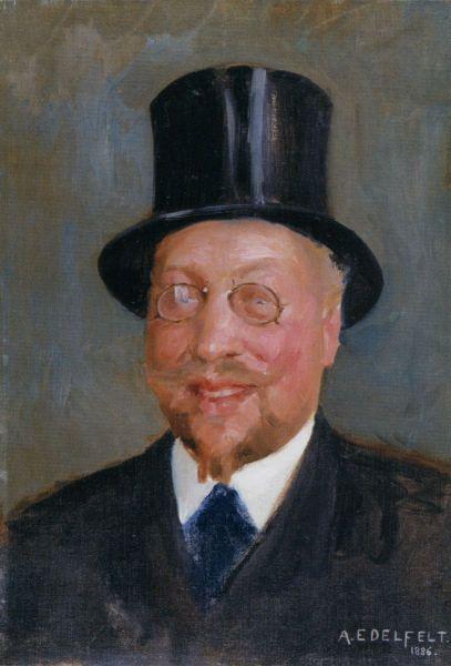"""ALBERT GUSTAF ARISTIDES EDELFELT (1854-1905) """"Ville Vallgren After The Happy Breakfast"""", 1886 - """"Ville Vallgren iloisen aamiaisen jälkeen"""""""