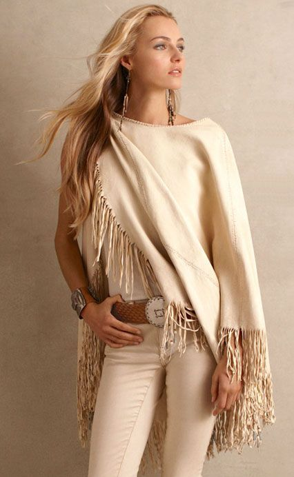 One can never have too many cashmere ponchos/wraps/capes. Ralph Lauren