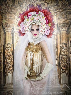 COLORFUL MADONNA Fashion & Faces Photography Photographic art on plexiglass Cobra Art Company