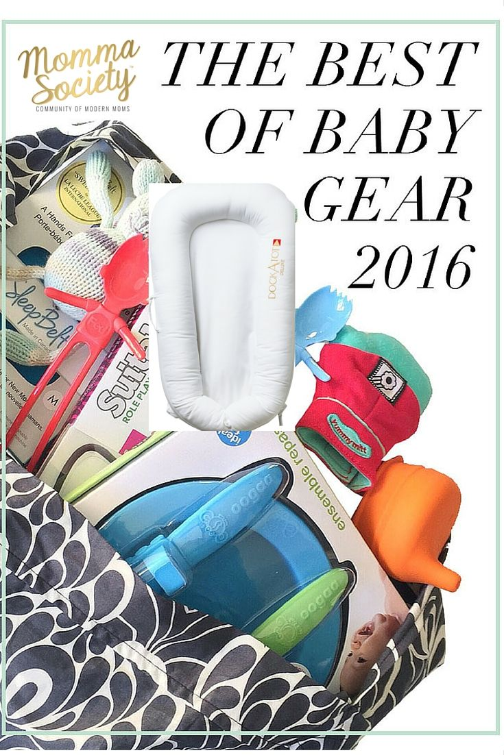 DockATot was voted as the best baby gear of 2016 from the ABC Kids Expo by Momma Society. Moms love this multi-functional baby lounger/co-sleeper. It's a baby registry must have!