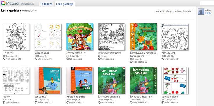 LÉNA galériája - picasa webalbum - barkács ötletek, feladatlapok (iskola előkészítő és kisiskolás)