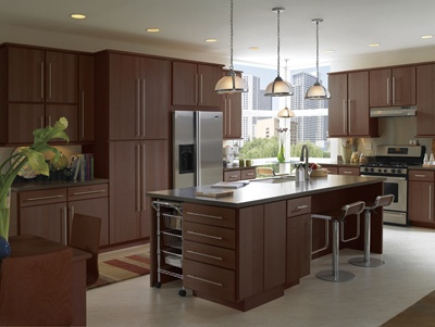 Flat Panel Maple Cabinets In Autumn Brown From Armstrong