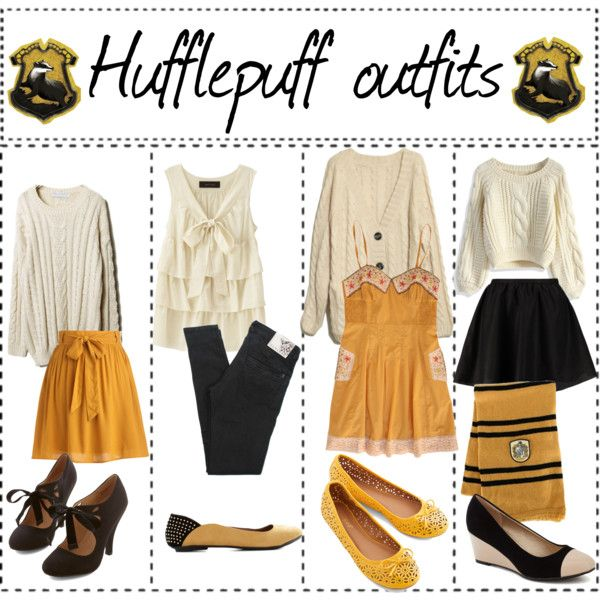 """""""Hufflepuff outfits"""" by ameliaroseoswald on Polyvore"""