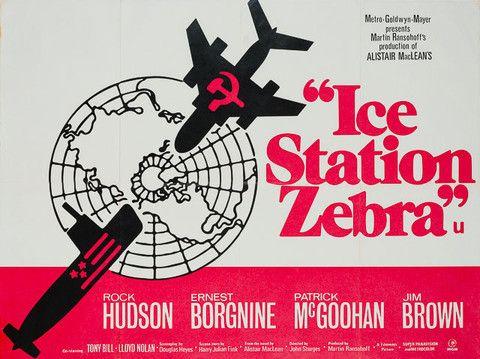 Original 1968 Ice Station Zebra UK Quad poster - Orson & Welles