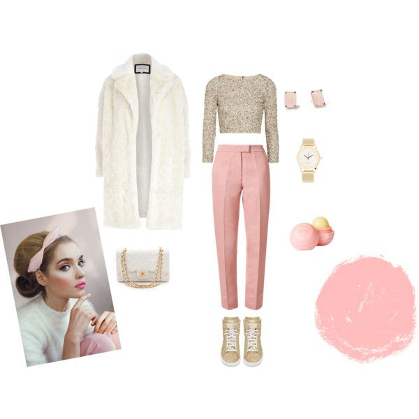 """Gold&Baby Pink"" by blondavapotvora on Polyvore"