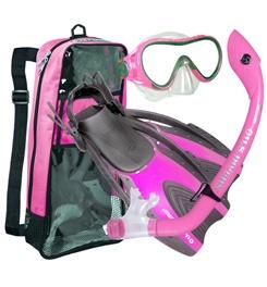 US Divers Diva Island Dry Trek Women's Snorkel Set, 72485   Snorkeling Accessories   Swimming & Snorkeling   GEAR   items from Campmor.  Size medium