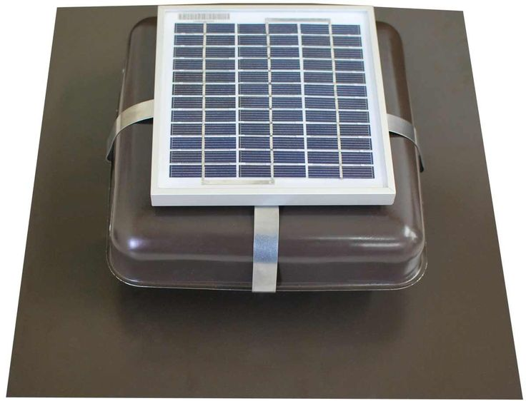 Solar Roof Vent - Solar Attic Fan - Solar RVOblaster with Brown Vent -- You can find out more details at the link of the image.